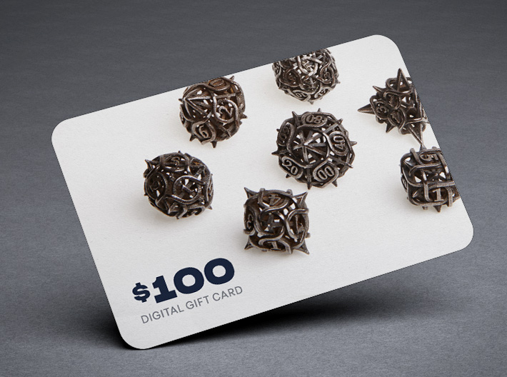 Shapeways $100 Gift Card