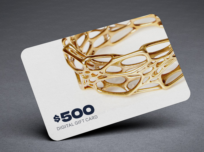 Shapeways $500 Gift Card