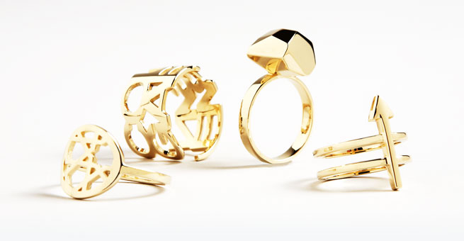 3D Printed Gold, Silver, Platinum, Brass, Bronze and Steel