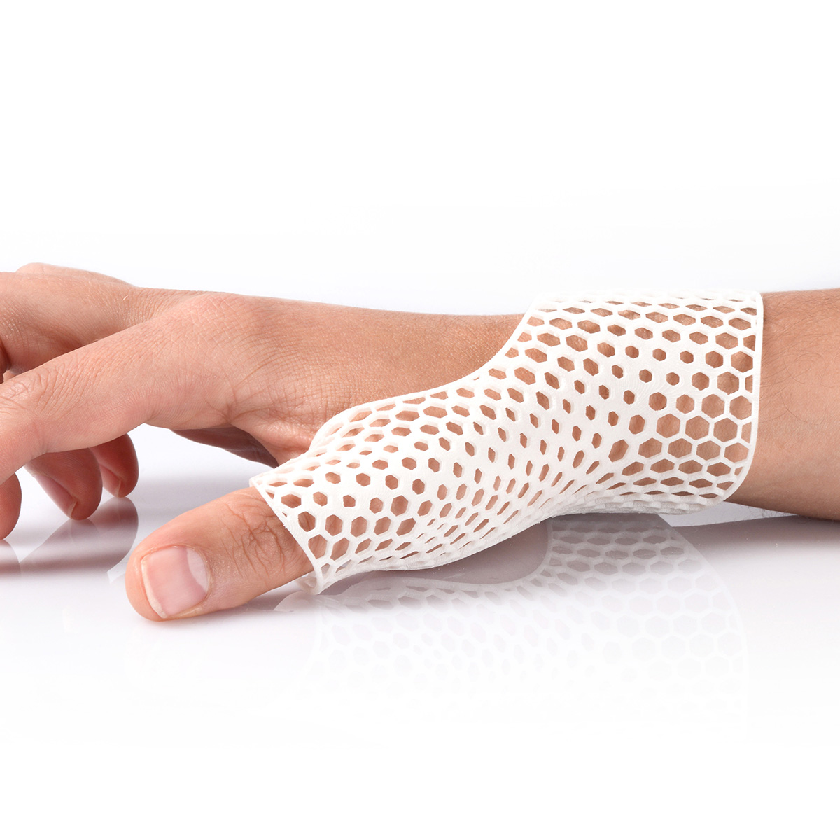 PA11 3D Printed Wrist Cast Demonstrated on Hand
