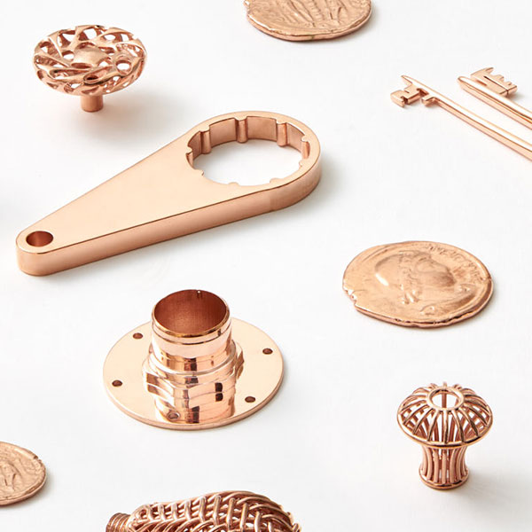 Assorted decorative and fuctional parts in Copper
