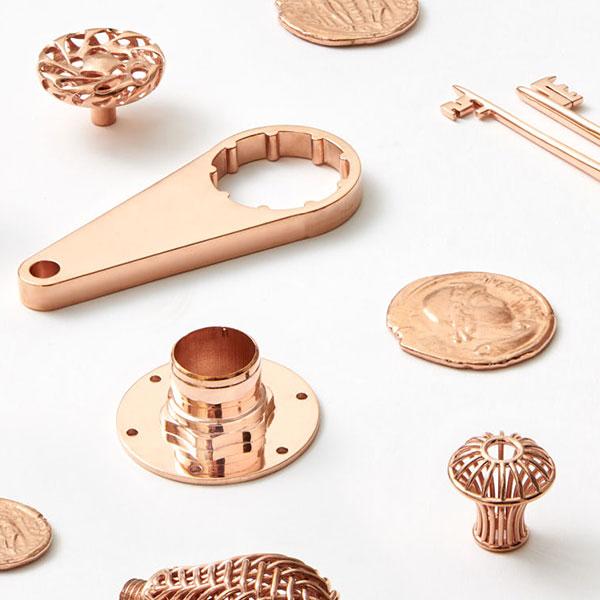 Assorted copper parts