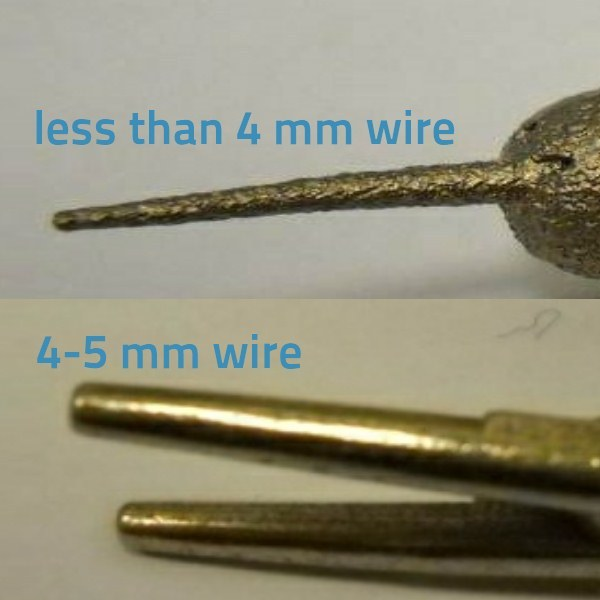 Thicker wire structures will receive a better polish