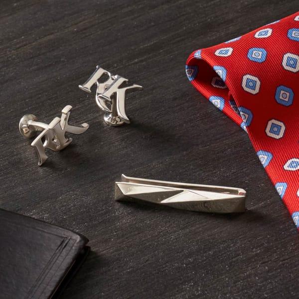 3D Printed Cufflinks + Tie Clip