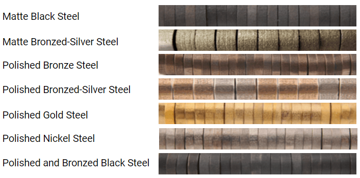 steel color variation
