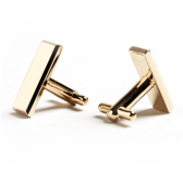 Personalize cufflinks and tie clips