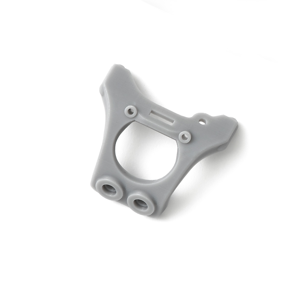 Triangular gray plastic rc car chassis brace 劲爆体育在线直播 printed in Accura Xtreme