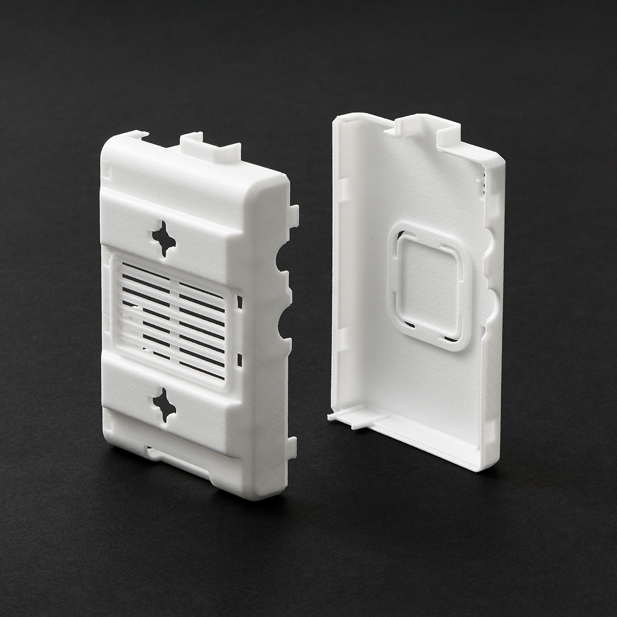 Raspberry pi case 3D printed in Accura Xtreme 200 - white plastic with smooth, glossy surface finish