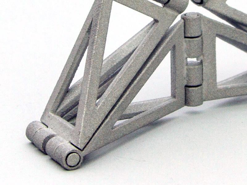 Invertible Cube/ Umkehrwuerfel 50mm in Aluminum