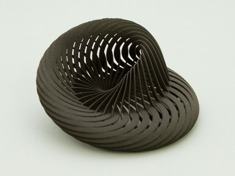Mobius Nautilus in Black Nylon 11