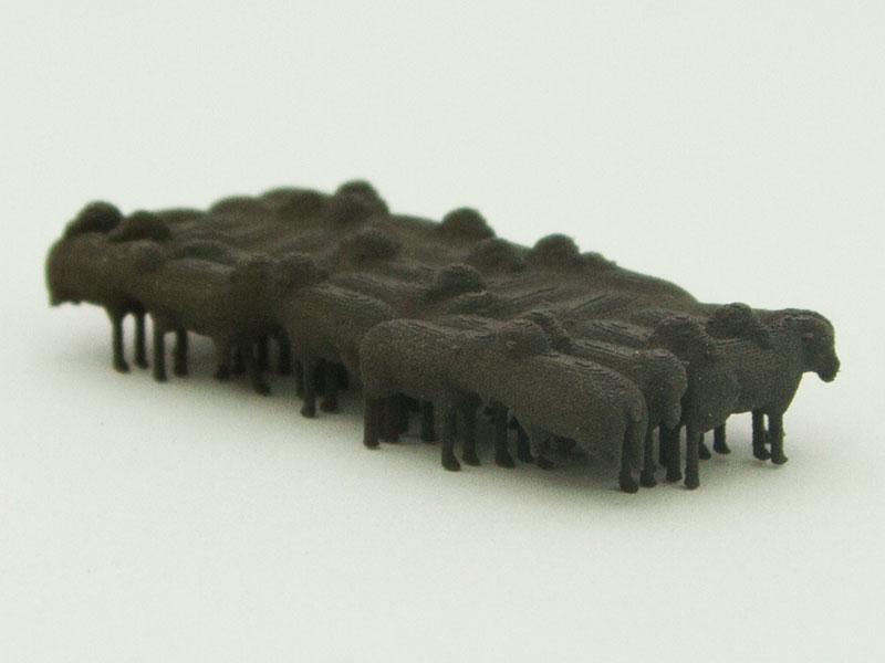 NZ64 Scale J Wagon Sheep Load in Black Nylon 11