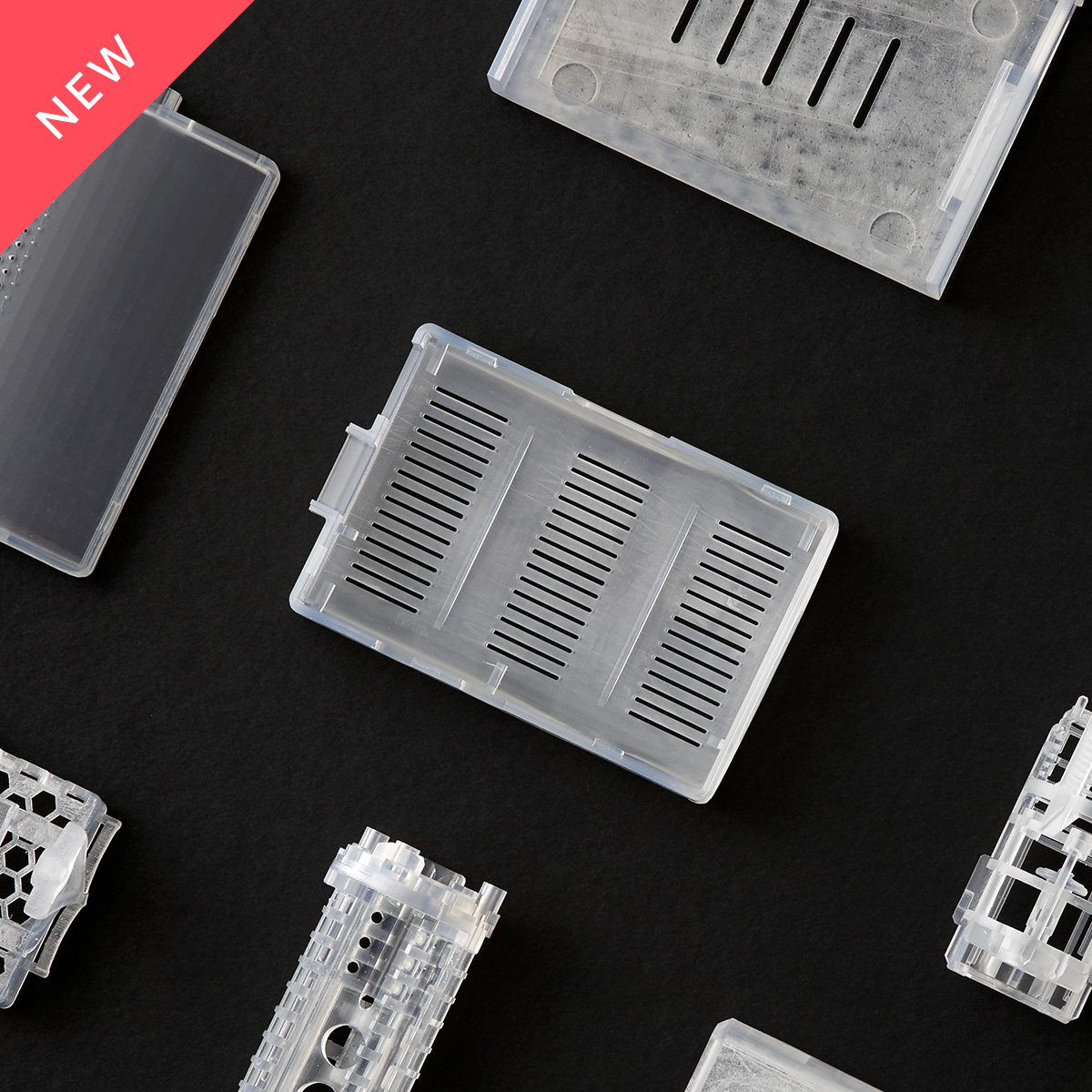 Semi-transparent electronics casing 3D printed in Accura 60