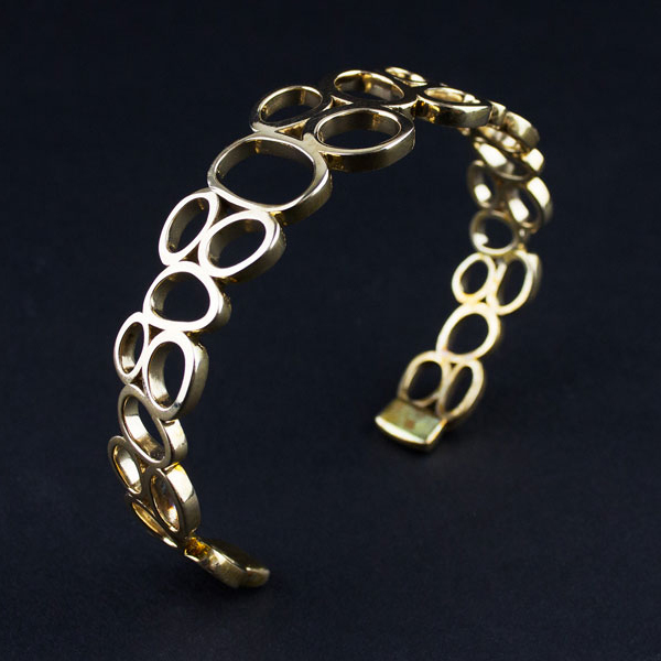 3D Printed Brass-Bronze Bracelet