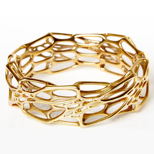 3D Printed Brass Bracelet