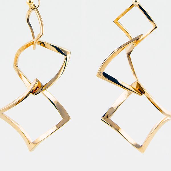 Bronze 3D Printed Earrings