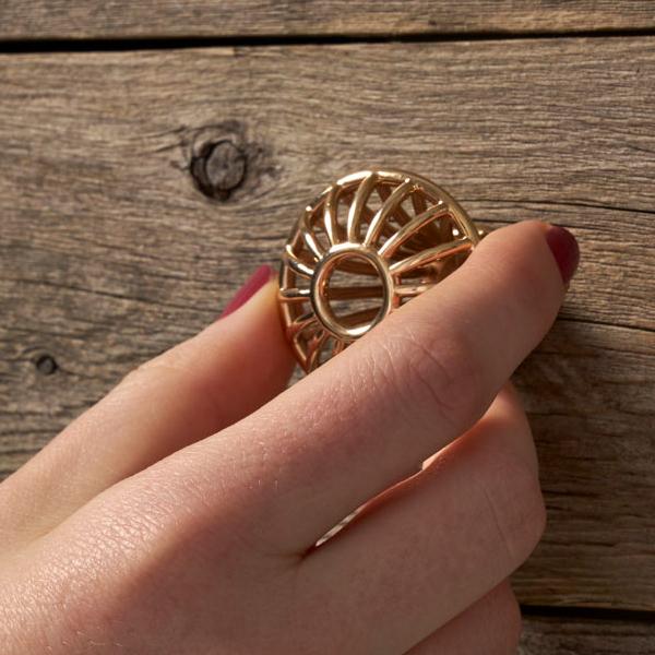 Bronze 3D Printed Drawer Pull Knob