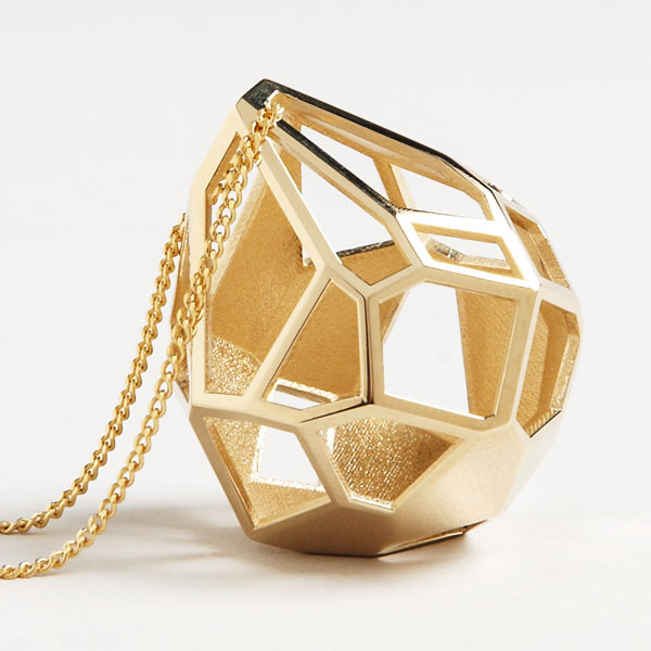 3D Printed Gold Plated Pendant