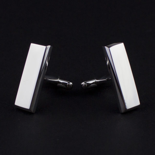 LOL电竞下注 Printed Silver-rhodium Cufflinks