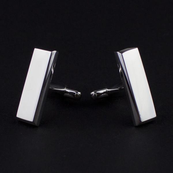 3D Printed Silver-rhodium Cufflinks