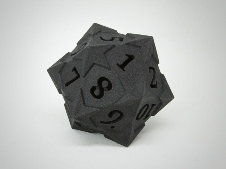 Starry D20 Balanced Gaming Die by Tiny Tokens