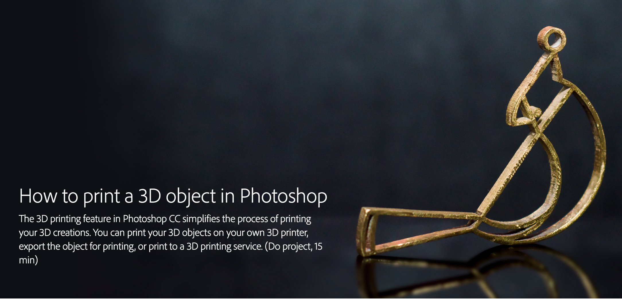 Photoshop Creative Cloud Tutorial on 3D Printing